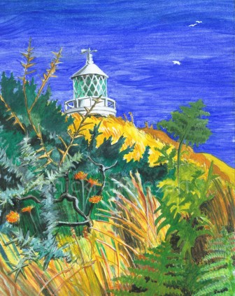 The Lighthouse over the Hill